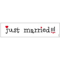 autó rendszám - Just Married, fehér
