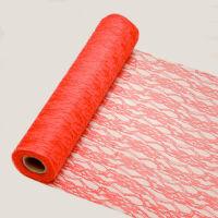 29 cm széles csipke futó (5 m) - piros