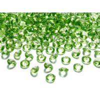 gyémánt dekorkő 12 mm (100 db/cs) - zöld