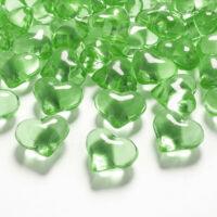 szív dekorkő 20 mm (30 db/cs) – zöld