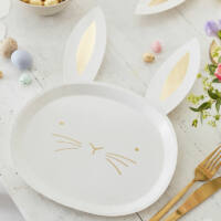 húsvéti papír tányér (8 db/cs) – nyuszi