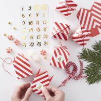 adventi naptár készlet – piros dobozok