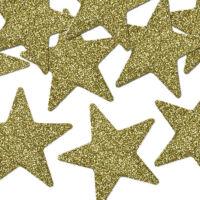 karácsonyi csillag dísz (8 db/cs) - arany