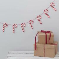 karácsonyi füzér fából - nyalóka