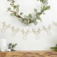 karácsonyi füzér fából - rénszarvas