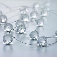 kristály girland - átlátszó