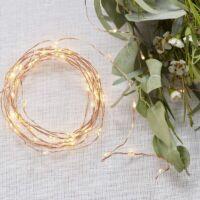 LED fényfüzér (3 m) - rose gold
