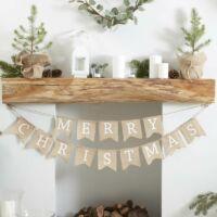 Merry Christmas füzér - vintage