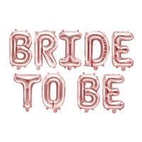 lánybúcsú fólia lufi 35 cm - Bride To Be, rose gold
