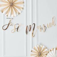 Just Married füzér – arany