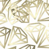 papír konfetti (5 db/cs) - gyémánt