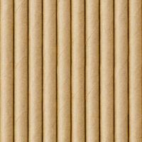 papír szívószál (10 db/cs) - natúr