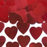 szív konfetti (10 g/cs) - nagy, piros