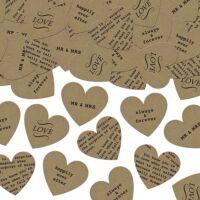 szív konfetti (3 g/cs) - feliratos