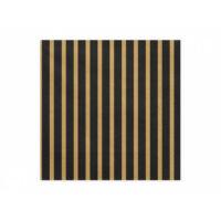 szalvéta 33x33 cm 3 rétegű (20 db/cs) - fekete és arany csíkos