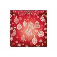 szalvéta 33x33 cm 3 rétegű (20 db/cs) - piros karácsonyi mintás