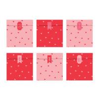 papírzacskó (6 db/cs) - szív mintás, Valentin