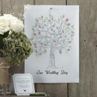 esküvői vendégkönyv (alternatív) - ujjlenyomat fa készlet