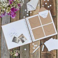 esküvői vendégkönyv - borítékos