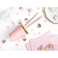 papír pohár (6 db/cs) - rózsaszín