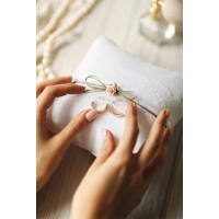 gyűrűpárna – vintage, barna