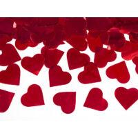 konfetti ágyú szívekkel (40 cm) - piros