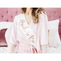 lánybúcsú szatén szalag - Bride To Be, rose gold