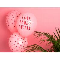 feliratos lufi 30 cm - love makes me fly