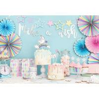 papír tányér (6 db/cs) – színes csillagos
