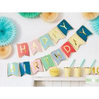 szülinapi füzér - happy birthday, színes