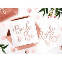szalvéta 33x33 cm 3 rétegű (20 db/cs) - Bride to Be