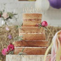esküvői tortadísz (rusztikus fa) - Mr és Mrs