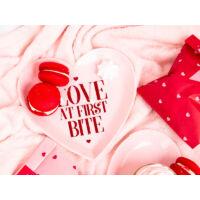 papír tányér (6 db/cs) – szív alakú, Valentin