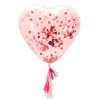 szív alakú konfetti lufi – Valentin