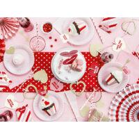 papír szíves füzér csipeszekkel – sweet love