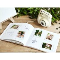 esküvői vendégkönyv - arany mintás, barna