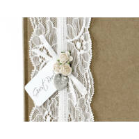 esküvői vendégkönyv - vintage, barna