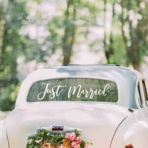 autó matrica – Just Married