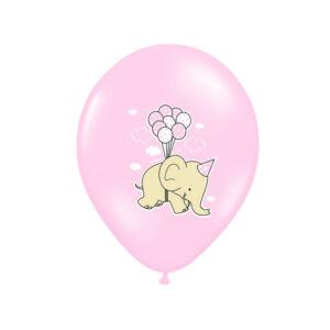 babaváró elefántos lufi 30 cm (6 db/cs) – rózsaszín