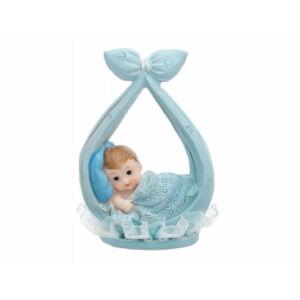 babaváró tortadísz – fiúbaba batyuban