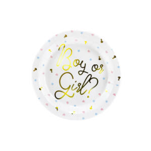 papír tányér (6 db/cs) – Boy or Girl