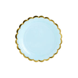 papír tányér (6 db/cs) – világoskék