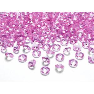 gyémánt dekorkő 12 mm (100 db/cs) – pink