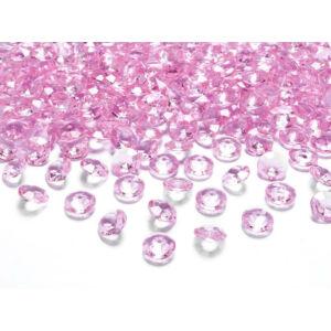 gyémánt dekorkő 12 mm (100 db/cs) – rózsaszín
