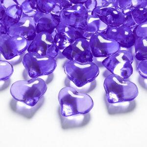 szív dekorkő 20 mm (30 db/cs) – lila