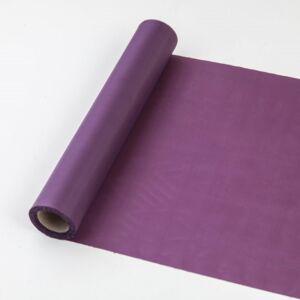 25 cm széles dekorselyem futó (10 m) – padlizsán lila