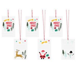 karácsonyi ajándékcímke (6 db/cs) – Merry Xmas