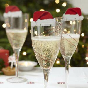 karácsonyi pohárdísz (10 db/cs) – mikulássapka
