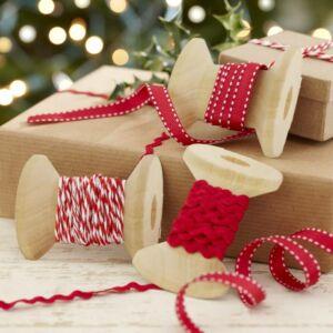 karácsonyi szalag készlet (3 db/cs) – piros