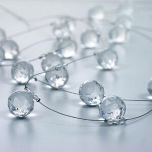 kristály girland – átlátszó